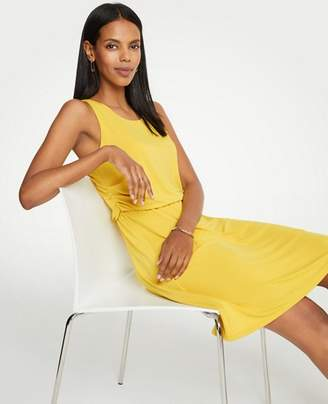 Ann Taylor Petite Side Ruched Flare Dress