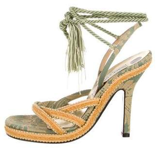 Dolce & Gabbana Embrodiered Fabric Sandals