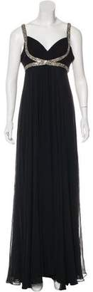 Marchesa Sequin-Embellished Chiffon Dress