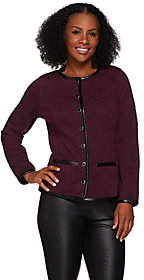 Isaac Mizrahi Live! Quilted Knit Jacket w/ Faux
