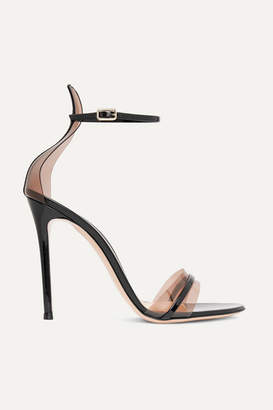 Gianvito Rossi 105 Patent-leather And Pvc Sandals - Black