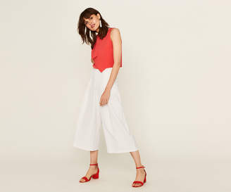 Oasis CROPPED WIDE LEG TROUSERS