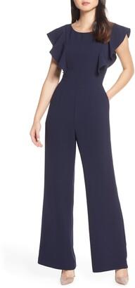 Eliza J Flutter Sleeve Jumpsuit