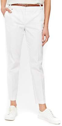 Wallis Piped Stretch Cotton Pants