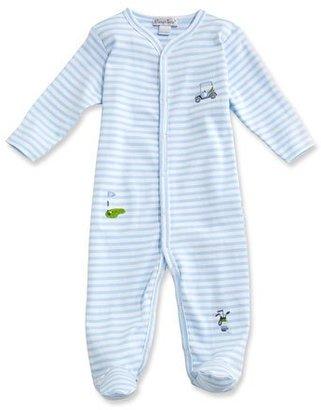Kissy Kissy Mini Golf Striped Footie Pajamas, Blue, Size Newborn-12 Months $48 thestylecure.com