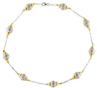 Faraone Mennella Two-Tone Textured Station Necklace