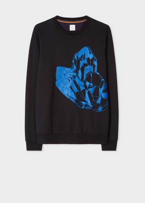 Paul Smith Men's Black 'Precious Stones' Embroidered Sweatshirt