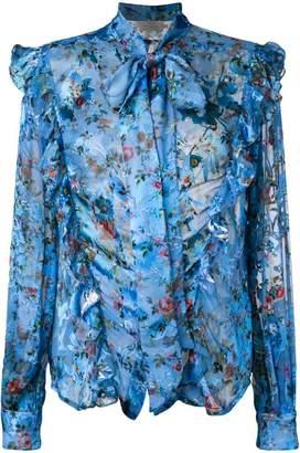 Preen by Thornton Bregazzi Zinna floral printed blouse