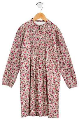 Papo d'Anjo Girls' Pleated Floral Print Dress