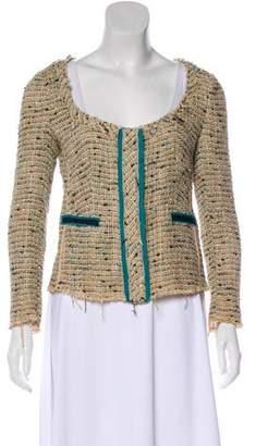 Prada Crocheted Trim Button-Up Jacket