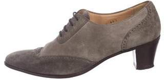 Gravati Suede Round-Toe Oxfords