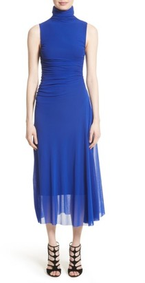 Women's Fuzzi Tulle Turtleneck Midi Dress $495 thestylecure.com