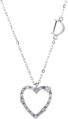 Damiani 18K 0.10 Ct. Tw. Diamond Heart Necklace
