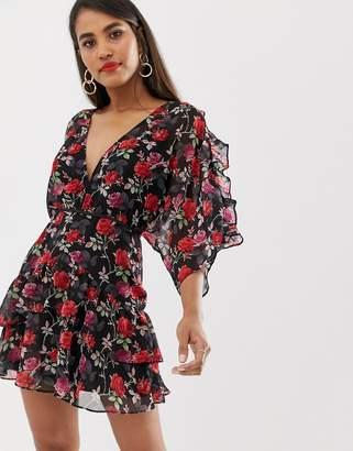 Talulah Jet Rose floral printed dress