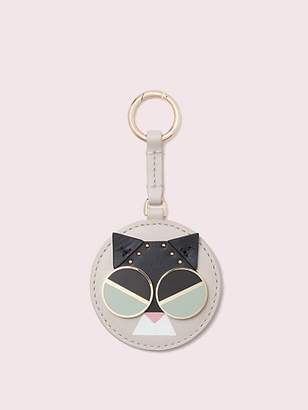 Kate Spade Spademals Smitten Kitten Dangle Keychain, Tusk