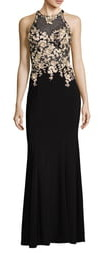 Xscape Evenings Floral Embroidered Gown