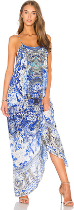 Camilla Low Back Layered Dress in Blue $650 thestylecure.com