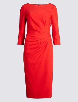 Marks and Spencer Drape 3/4 Sleeve Shift Midi Dress
