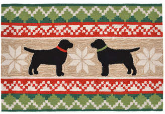 """Liora Manné Liora Manne' Front Porch Indoor/Outdoor Nordic Dogs Neutral 2'6"""" x 4' Area Rug"""