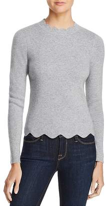 AQUA Cashmere Scallop-Trim Sweater - 100% Exclusive