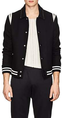 Valentino Men's Rockstud Wool Teddy Jacket - Black