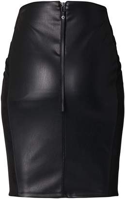 SUPERMOM High Waist Faux Leather Skirt