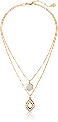 Laundry by Shelli Segal Geometric 2 Row Chain Necklace