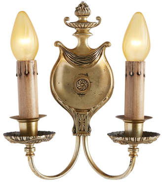 Rejuvenation Single Silver-Plated Classical Revival Sconce w/ Urn Motif