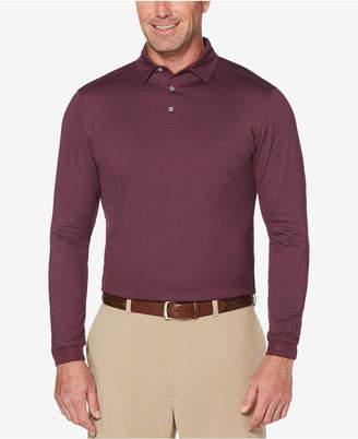 PGA Tour Men's Long-Sleeve Birdseye Polo