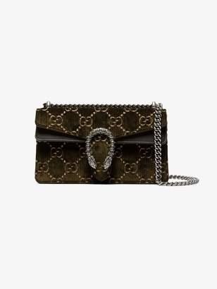 Gucci Green Dionysus GG small velvet shoulder bag