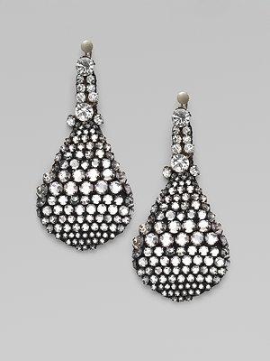 Vera Wang Crystal Teardrop Earrings