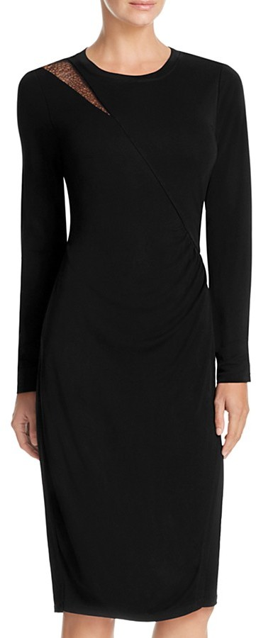 Elie Tahari Saniya Lace Shoulder Dress
