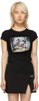 Marcelo Burlon County of Milan Black Disney Edition Mickey Mouse Fitted T-Shirt