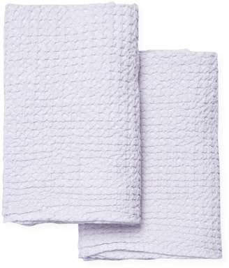 Habidecor Abyss & Waffle Cotton Bath Towels (Set of 2)