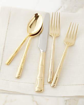 Wallace 20-Piece Gold Bamboo Flatware Service