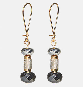 Avenue Glitter Bead Linear Drop Earrings