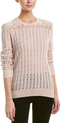 The Kooples Crochet & Lace Sweater