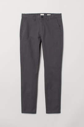 H&M Cotton chinos Skinny fit - Gray
