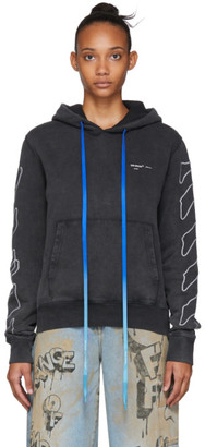 Off-White Off White Black Abstract Arrows Slim Hoodie
