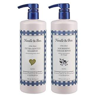 Noodle & Boo Extra Gentle Baby Shampoo and Nourishing Cream Rinse Bundle