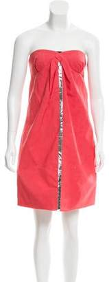 Chloé Metallic-Accented Wool Dress w/ Tags