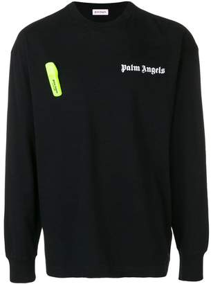 Palm Angels security tag jersey top