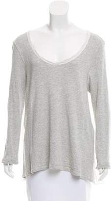 Cp Shades Scoop Neck Long Sleeve Top