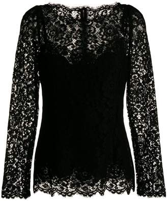 Dolce & Gabbana long-sleeved lace blouse