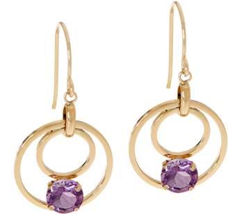 Semi-Precious Gemstone Dangle Earrings 14K Gold
