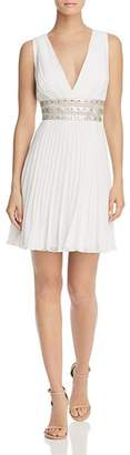BCBGMAXAZRIA Pleated Georgette Dress