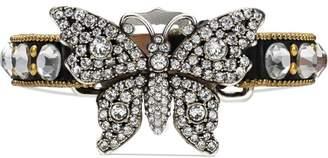 Gucci Crystal studded butterfly bracelet