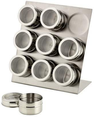 Equipment Hygena 9 Piece Magnetic Spice Canister Set