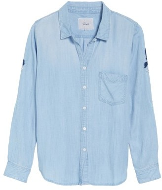 Women's Rails Cheyanne Embroidered Chambray Shirt $188 thestylecure.com