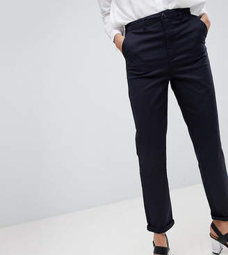 Asos Tall DESIGN Tall chino trousers in navy